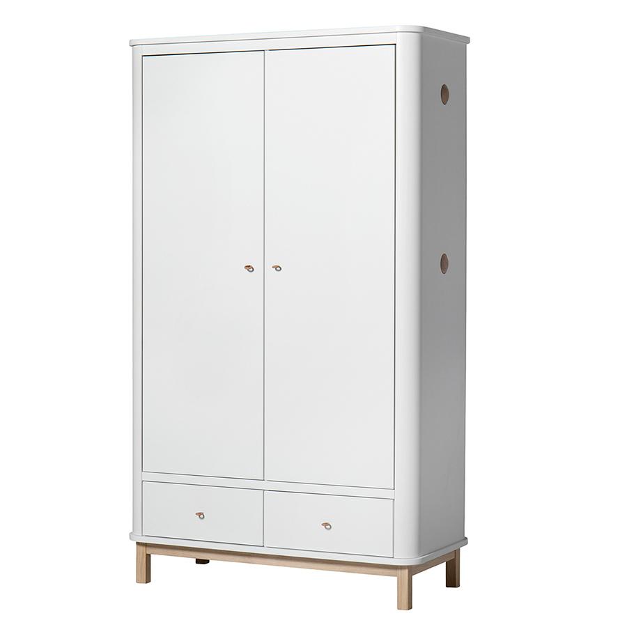 Oliver Furniture Wood Kleiderschrank 2-Türig Weiß/Eiche online ...