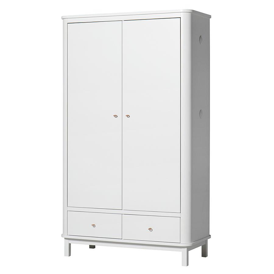 oliver furniture wood kleiderschrank 2 t rig wei online kaufen emil paula. Black Bedroom Furniture Sets. Home Design Ideas