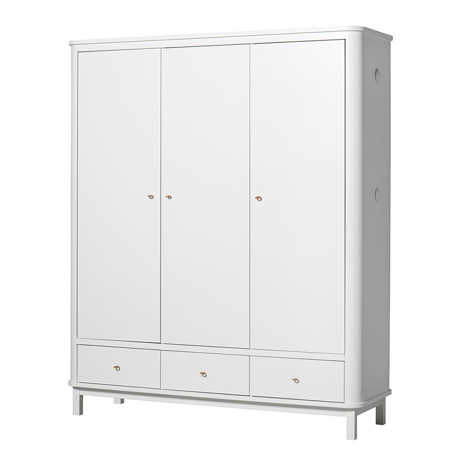 Oliver Furniture Wood Kleiderschrank 3-Türig Weiß online kaufen ...