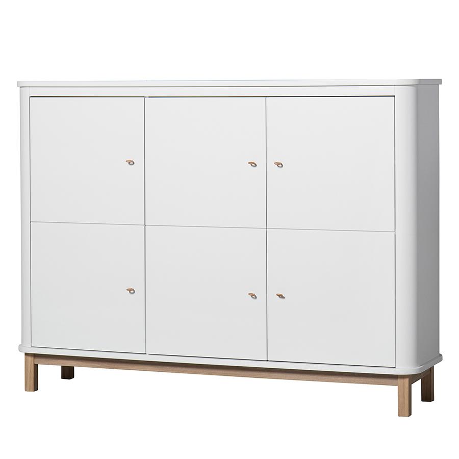 oliver furniture wood multi schrank 3 t rig wei eiche online kaufen emil paula. Black Bedroom Furniture Sets. Home Design Ideas