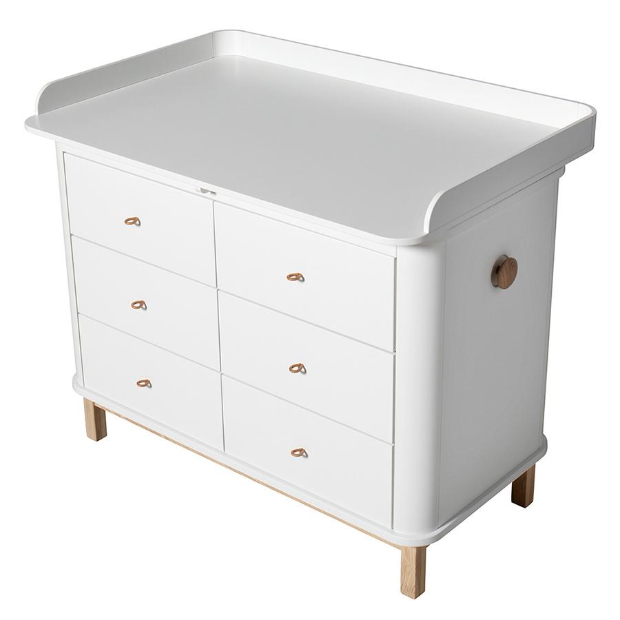 Oliver Furniture Wood Wickelkommode 6 Schubladen Mit Grosser