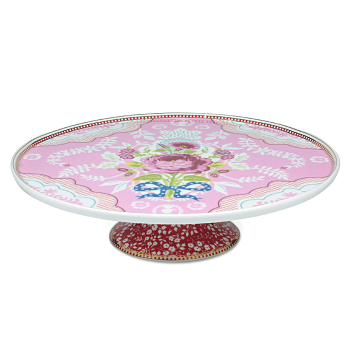 pip studio tortenplatte porzellan pink online kaufen emil paula. Black Bedroom Furniture Sets. Home Design Ideas