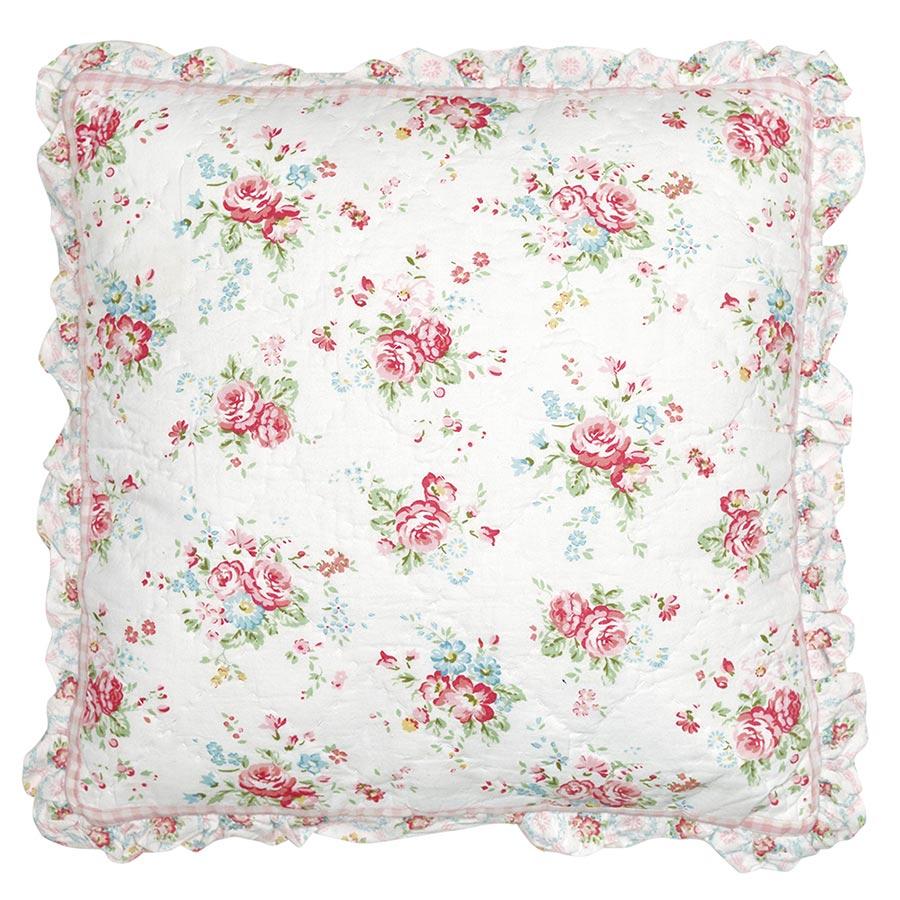 greengate gequiltete kissenh lle abelone white 40x40 online kaufen emil paula. Black Bedroom Furniture Sets. Home Design Ideas