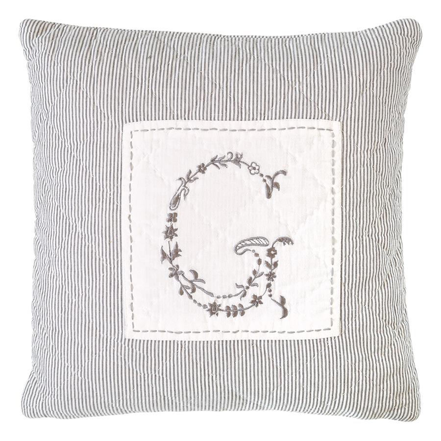 greengate gequiltetes kissen g dark grey 40 x 40 cm online kaufen emil paula. Black Bedroom Furniture Sets. Home Design Ideas