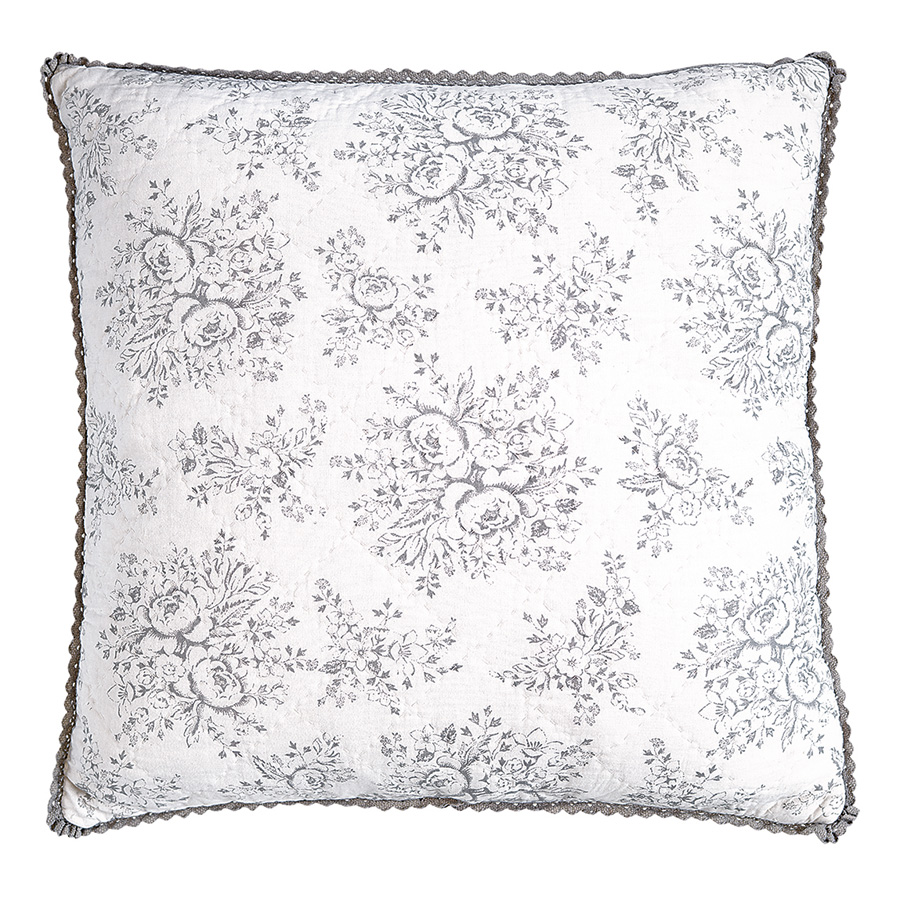 greengate neu gequiltetes kissen stephanie warm grey 50 x 50 cm online kaufen emil paula. Black Bedroom Furniture Sets. Home Design Ideas