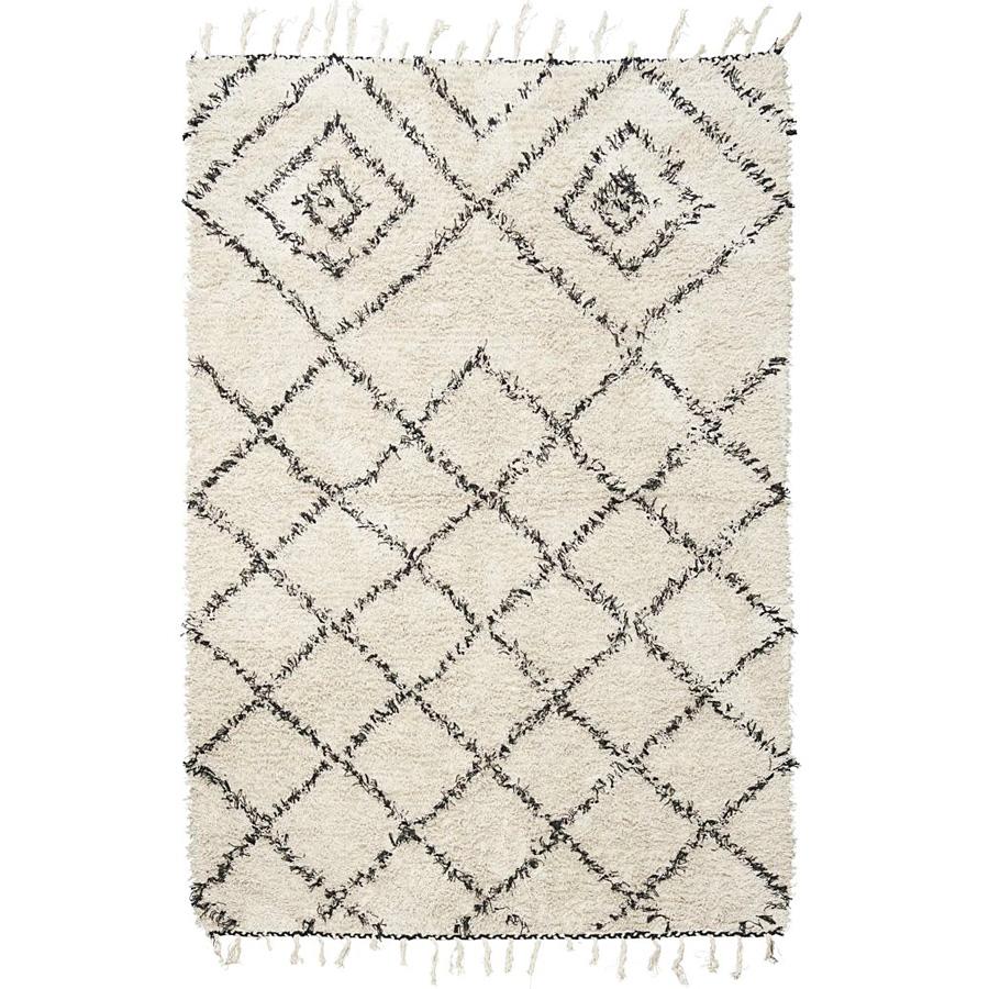 Teppich weiß schwarz  House Doctor Teppich Kuba Weiß/Schwarz online kaufen | Emil & Paula