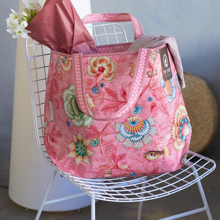 pip studio beach bag shellebration pink online kaufen. Black Bedroom Furniture Sets. Home Design Ideas