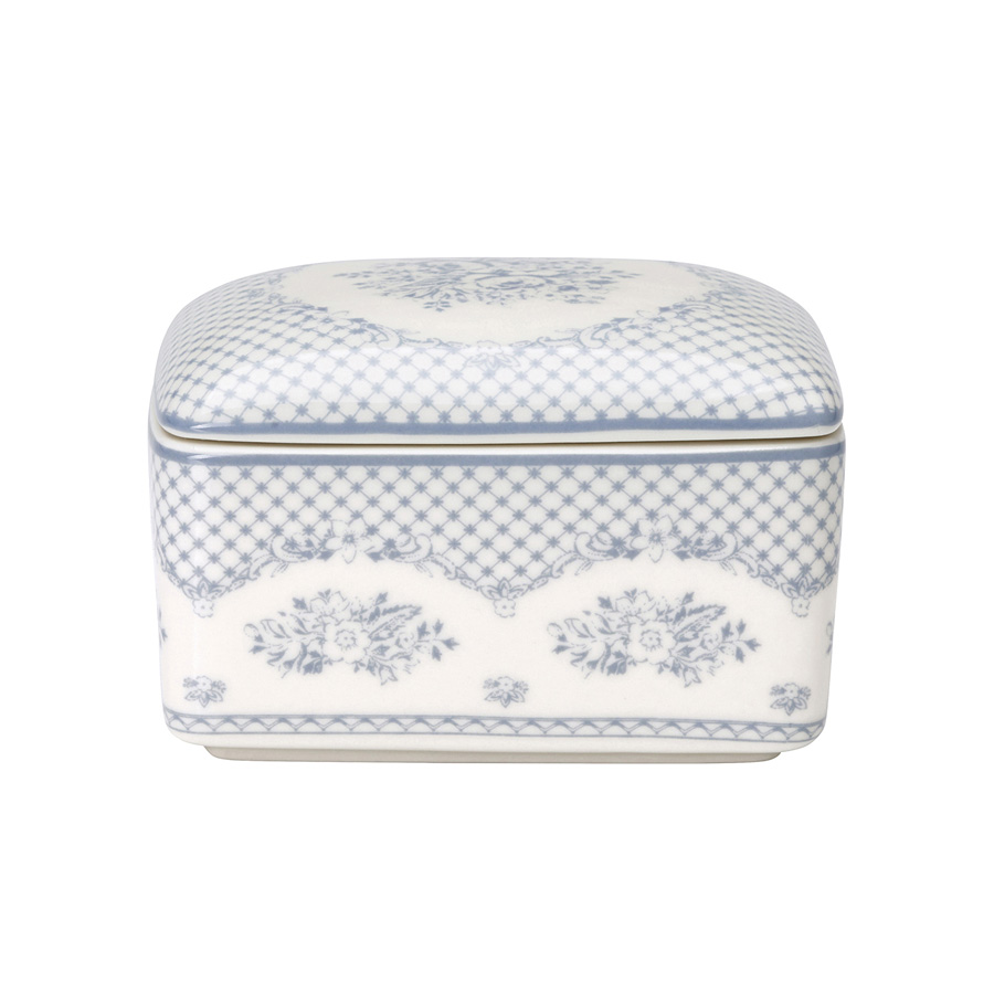 greengate butterdose stephanie dusty blue online kaufen. Black Bedroom Furniture Sets. Home Design Ideas