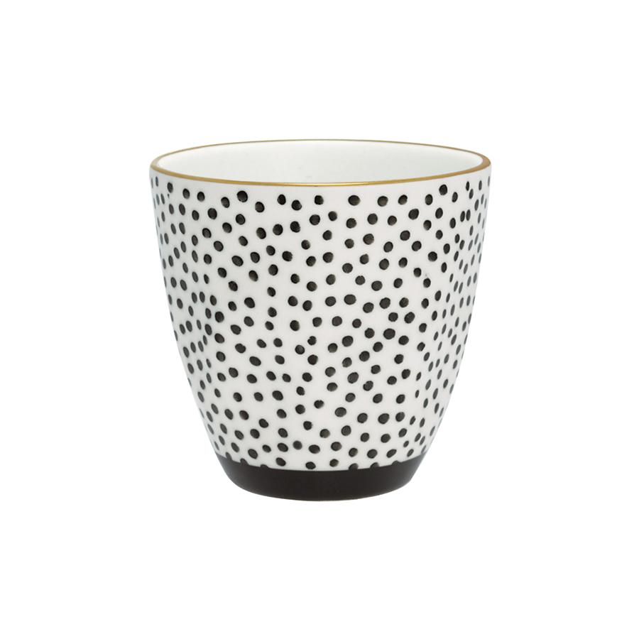 greengate porzellan becher dot black gold online kaufen. Black Bedroom Furniture Sets. Home Design Ideas