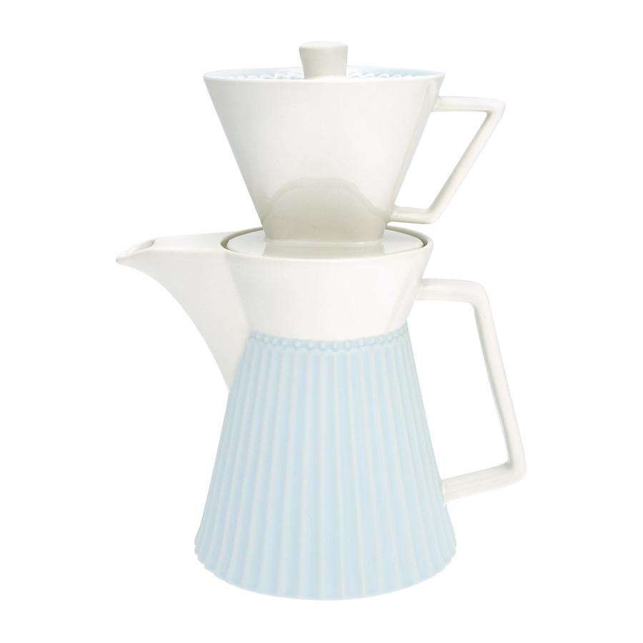 greengate kaffeekanne mit filter alice pale blue online