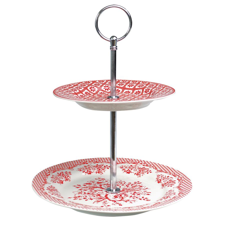greengate porzellan etagere 2 st ckig stephanie red online kaufen emil paula. Black Bedroom Furniture Sets. Home Design Ideas