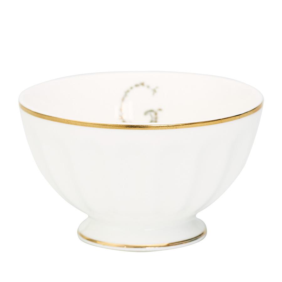 GreenGate Porzellan French Bowl G Gold Medium online