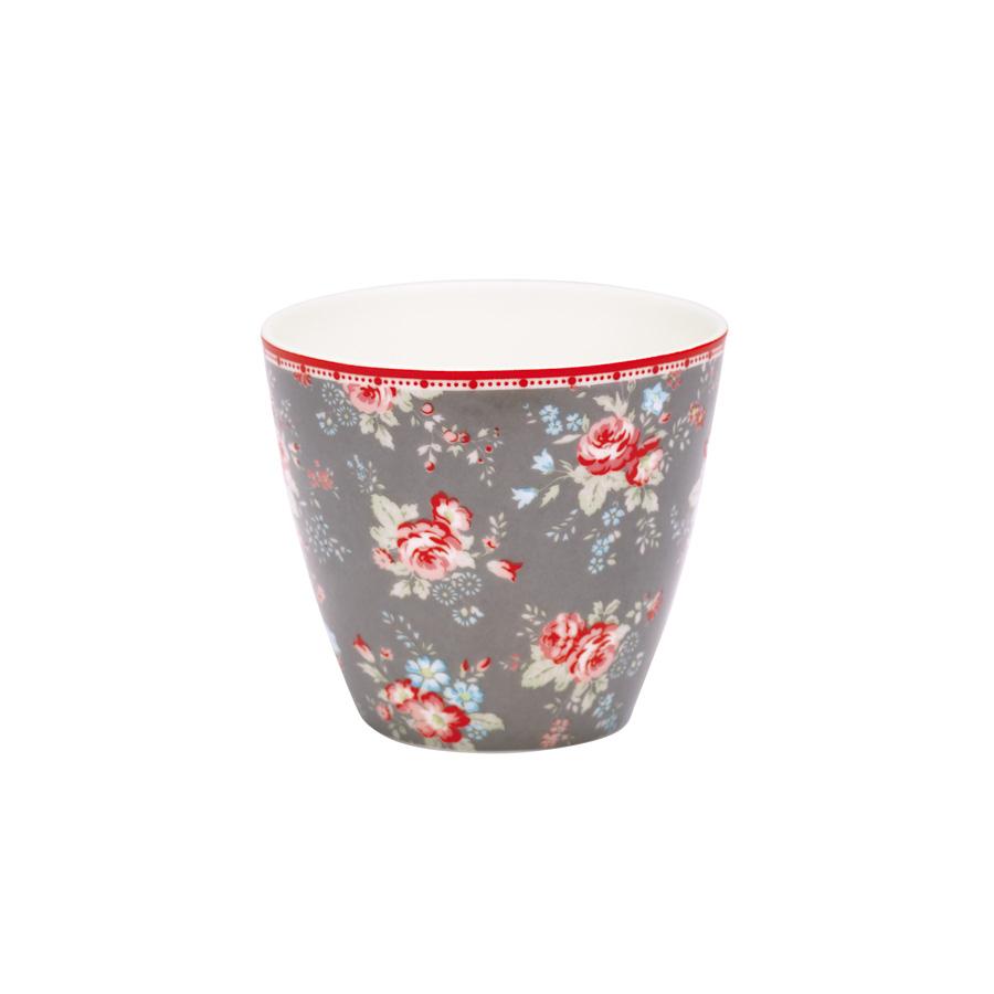 greengate latte cup becher abelone dark grey online kaufen. Black Bedroom Furniture Sets. Home Design Ideas
