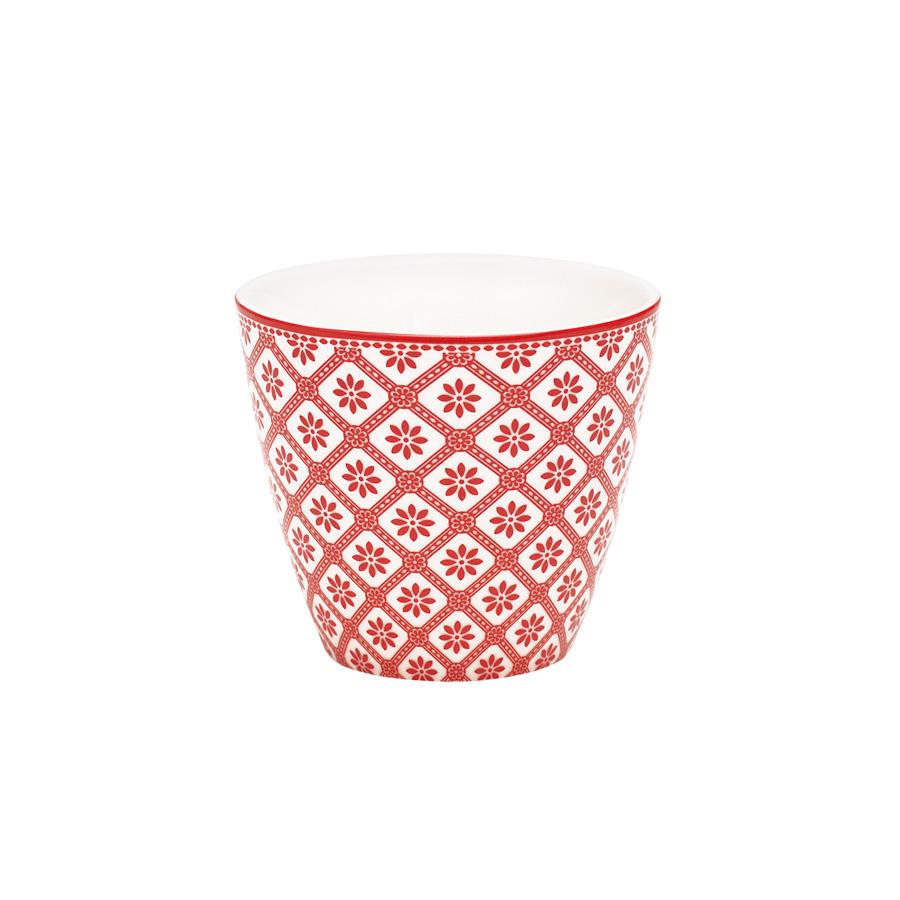 greengate latte cup becher bianca red online kaufen emil. Black Bedroom Furniture Sets. Home Design Ideas