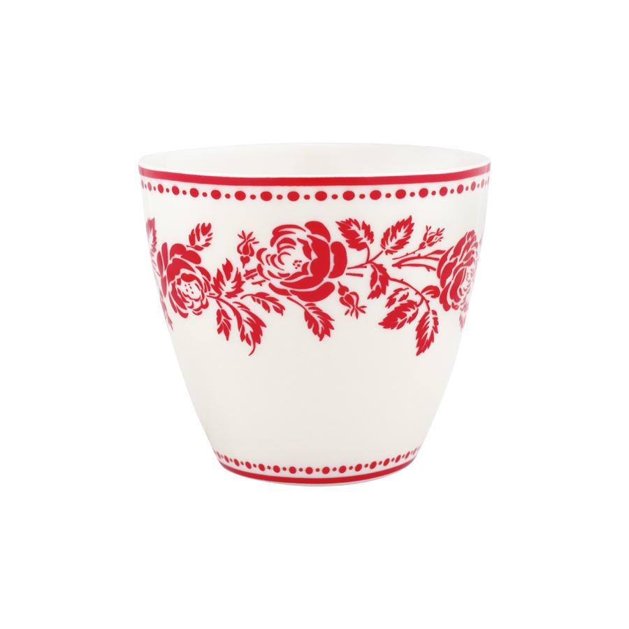 greengate latte cup fleur red online kaufen emil paula. Black Bedroom Furniture Sets. Home Design Ideas