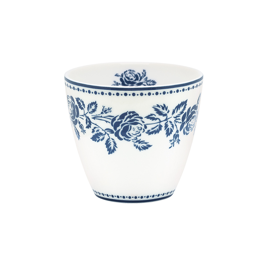 greengate latte cup becher fleur blue online kaufen emil. Black Bedroom Furniture Sets. Home Design Ideas