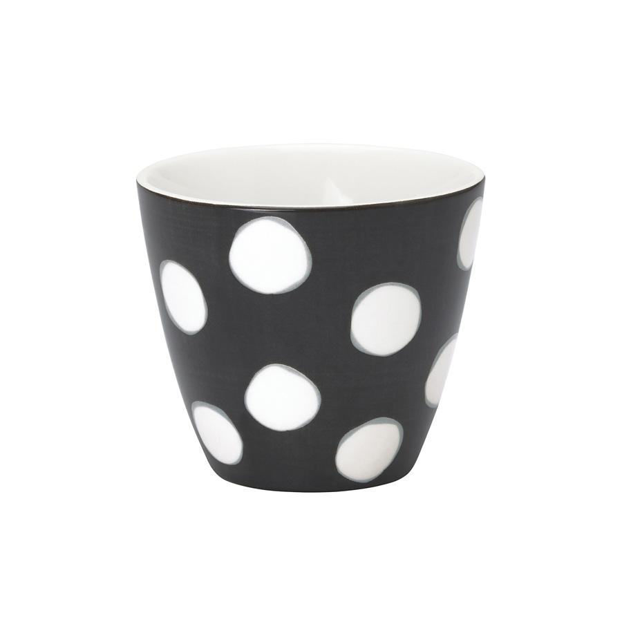 greengate latte cup paula dark grey online kaufen emil. Black Bedroom Furniture Sets. Home Design Ideas