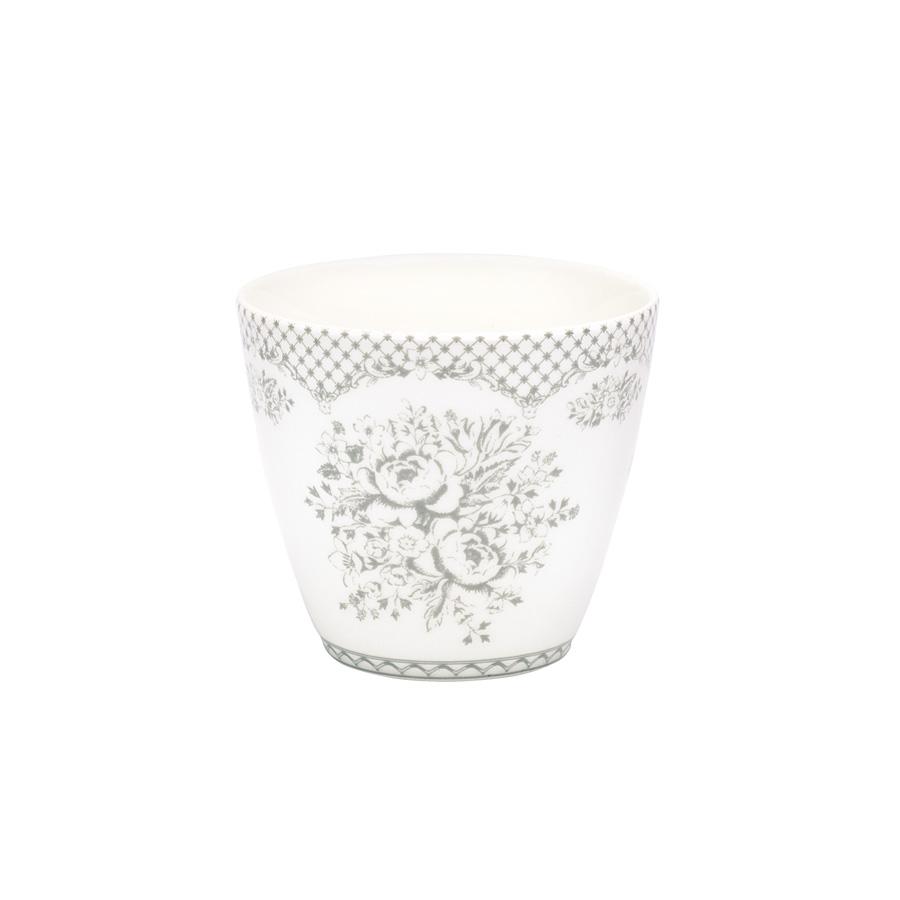 greengate latte cup becher stephanie warm grey online. Black Bedroom Furniture Sets. Home Design Ideas