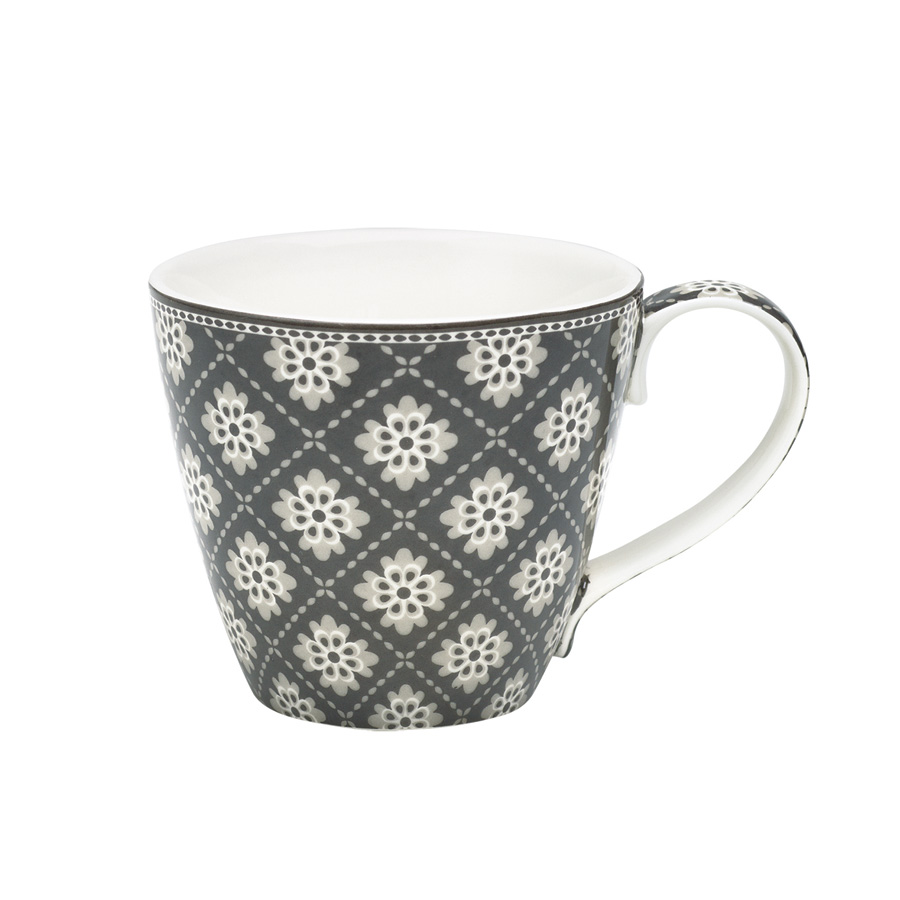 greengate porzellan tasse mug oona dark grey online kaufen. Black Bedroom Furniture Sets. Home Design Ideas