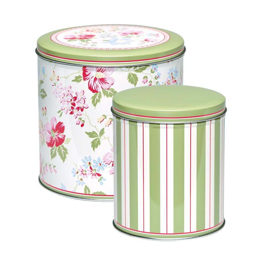 greengate aufbewahrungsbox rund donna white 2er set online kaufen emil paula. Black Bedroom Furniture Sets. Home Design Ideas