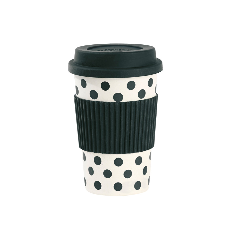 miss toile melamin travel mug dots wei schwarz online. Black Bedroom Furniture Sets. Home Design Ideas