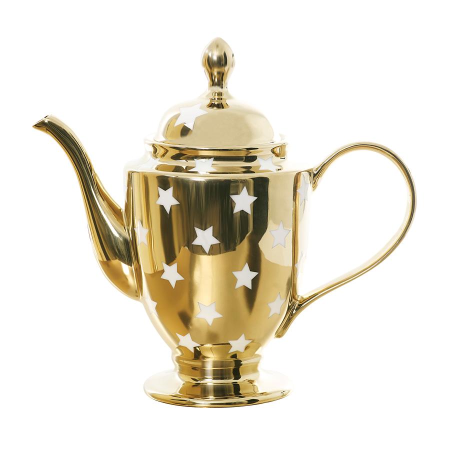 miss toile teekanne kaffeekanne stars gold wei online kaufen emil paula. Black Bedroom Furniture Sets. Home Design Ideas