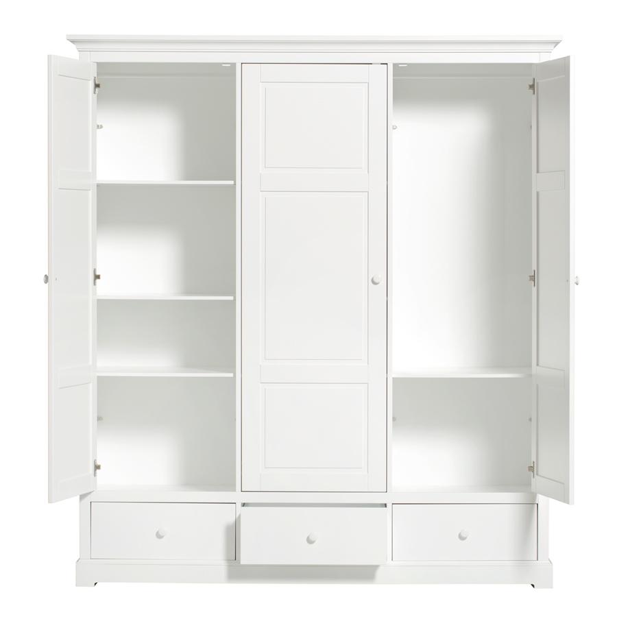 Oliver Furniture 3 türiger Kleiderschrank Weiß Hoch   Sofort Lieferbar online kaufen   Emil & Paula