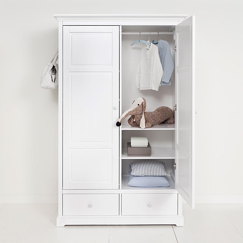 oliver furniture 2 t riger kleiderschrank wei hoch online kaufen emil paula. Black Bedroom Furniture Sets. Home Design Ideas