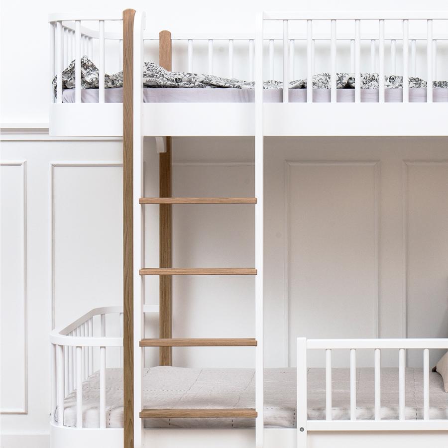 oliver furniture etagenbett wood eiche leiter vorne - Oliver Furniture Hochbett