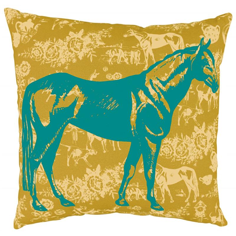 spiegelburg kissen country pferd petrol online kaufen emil paula. Black Bedroom Furniture Sets. Home Design Ideas