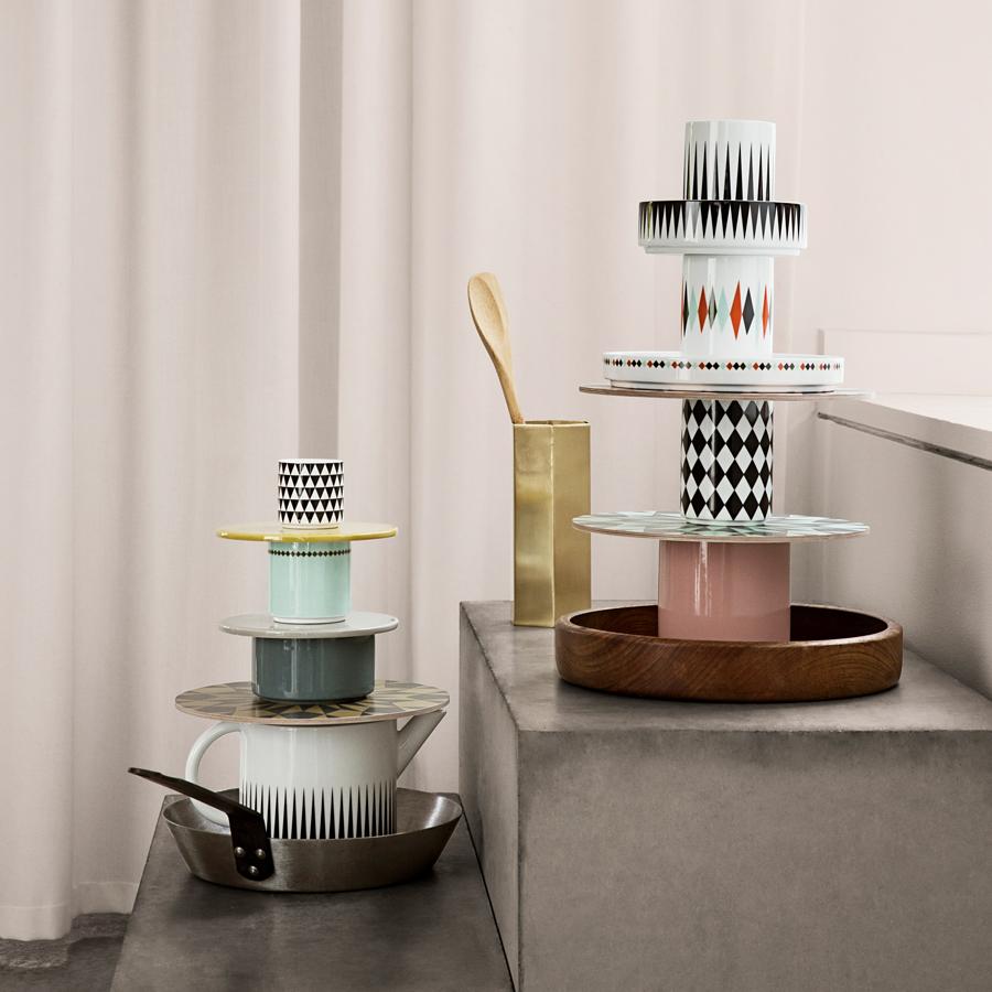 ferm living porzellan becher geometry cup 3 online kaufen. Black Bedroom Furniture Sets. Home Design Ideas