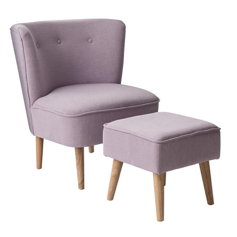 emil paula bloomingville sessel neu und hocker rose. Black Bedroom Furniture Sets. Home Design Ideas