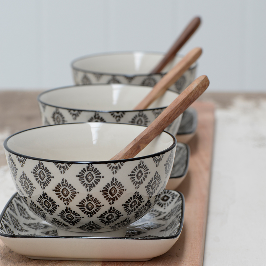 ib laursen bowl small casablanca black acheter en ligne. Black Bedroom Furniture Sets. Home Design Ideas