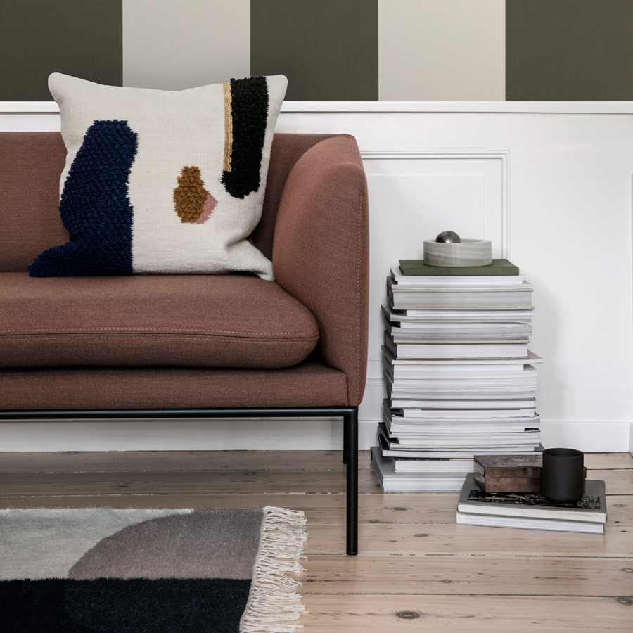 ferm living teppich kelim merge l online kaufen emil paula. Black Bedroom Furniture Sets. Home Design Ideas