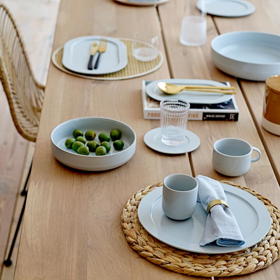 bloomingville tasse mit unterteller ice blue online kaufen. Black Bedroom Furniture Sets. Home Design Ideas