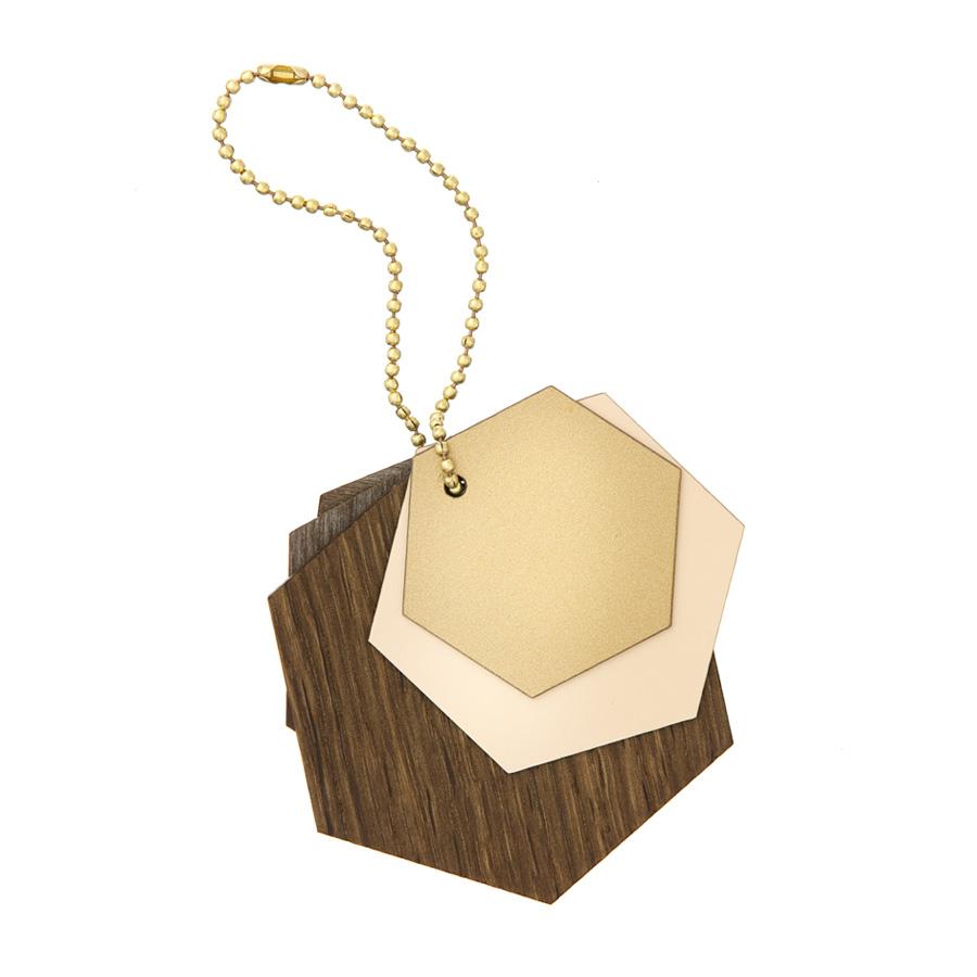 ferm living dekoanh nger aus holz hexagon online kaufen emil paula. Black Bedroom Furniture Sets. Home Design Ideas