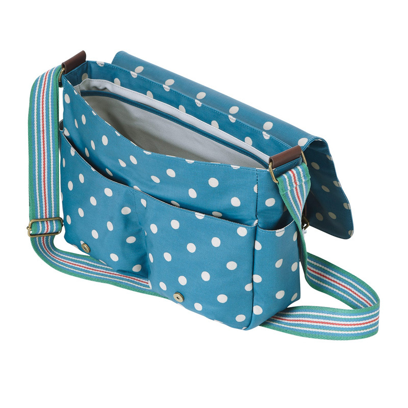 cath kidston umh ngetasche saddle bag mit lederverschl ssen spot deep blue online kaufen emil. Black Bedroom Furniture Sets. Home Design Ideas