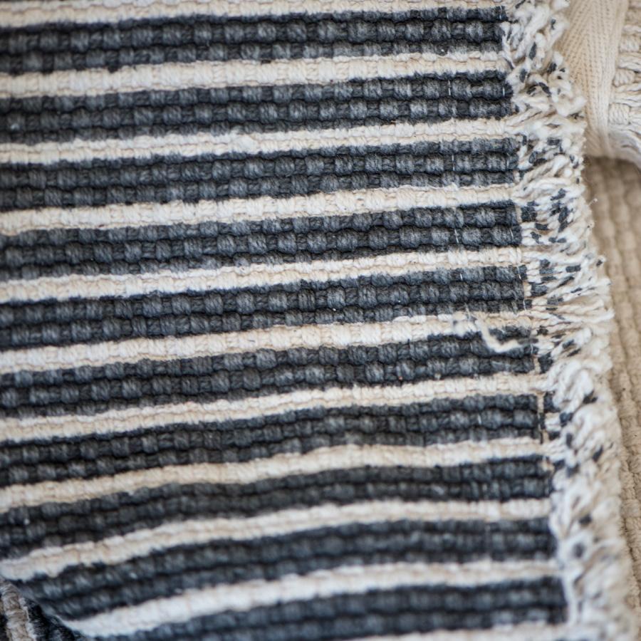 ib laursen teppich dunkelgrau gestreift online kaufen emil paula. Black Bedroom Furniture Sets. Home Design Ideas