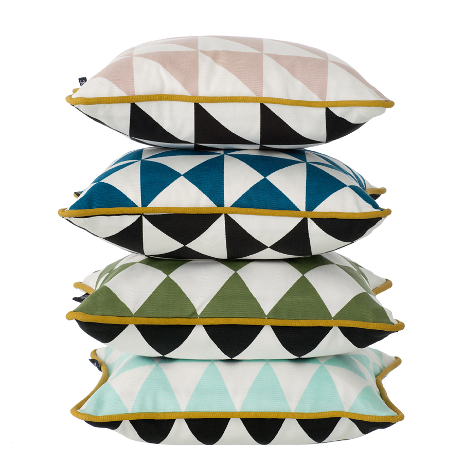 ferm living little geometry kissen mint 30 x 30 cm online. Black Bedroom Furniture Sets. Home Design Ideas