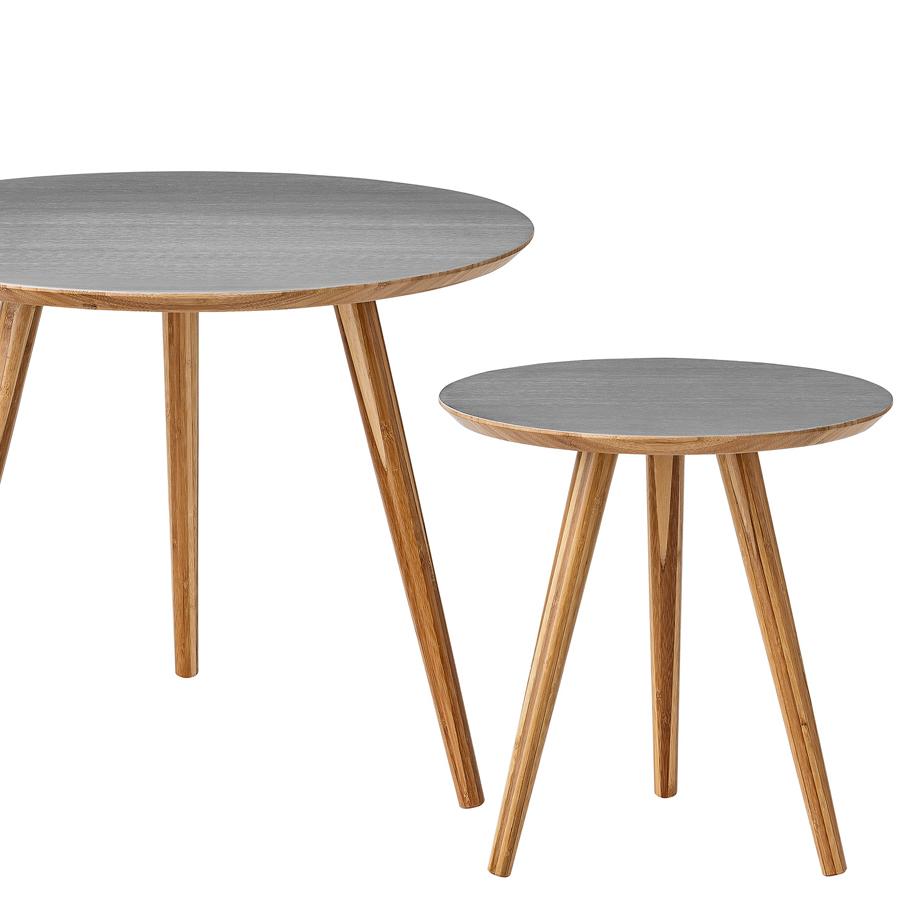 bloomingville beistelltisch breve bamboo grey 2er set online kaufen emil paula. Black Bedroom Furniture Sets. Home Design Ideas
