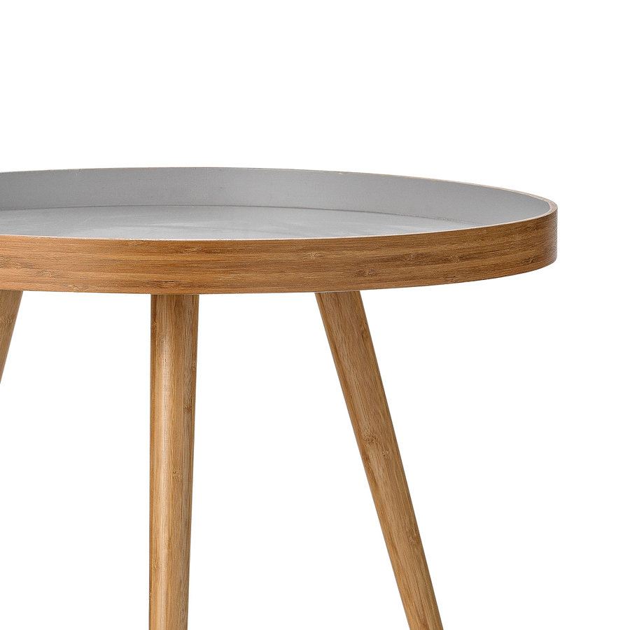 bloomingville beistelltisch bamboo grey online kaufen emil paula. Black Bedroom Furniture Sets. Home Design Ideas