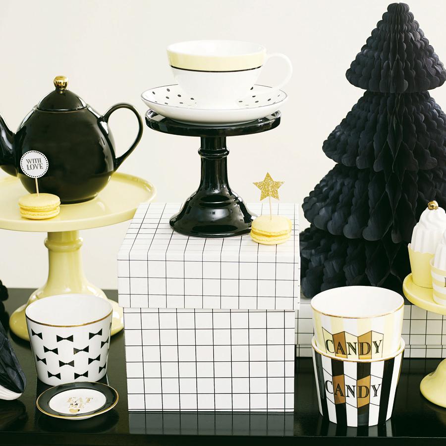miss toile tasse mit untertasse black dots lemon online kaufen emil paula. Black Bedroom Furniture Sets. Home Design Ideas