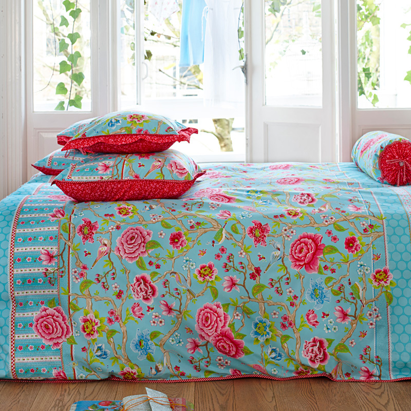 pip studio kissen botanical garden blue 45x45 online. Black Bedroom Furniture Sets. Home Design Ideas