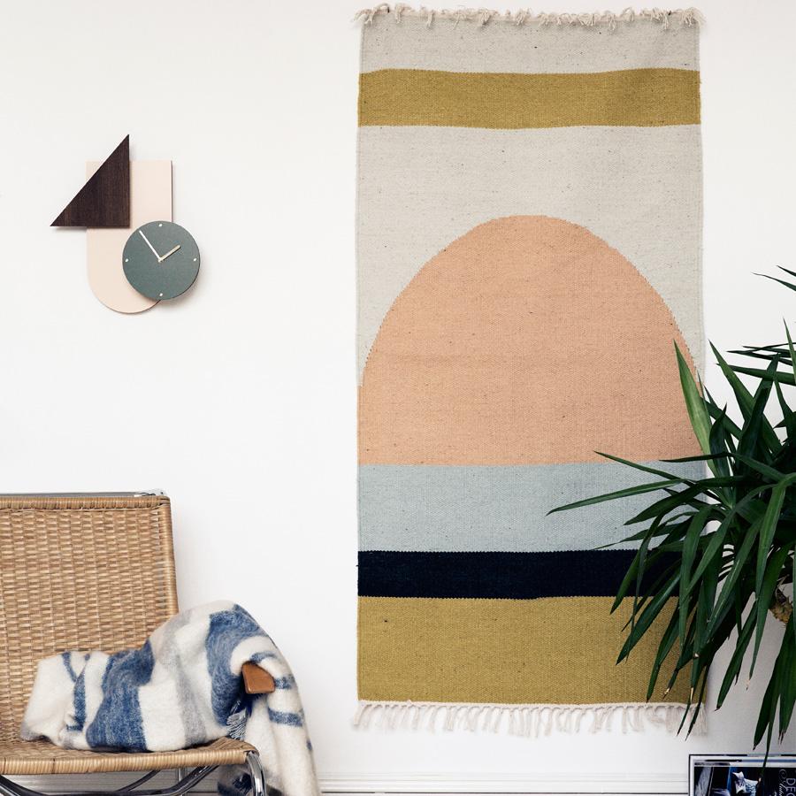 ferm LIVING Teppich Kelim Semicircle Groß online kaufen
