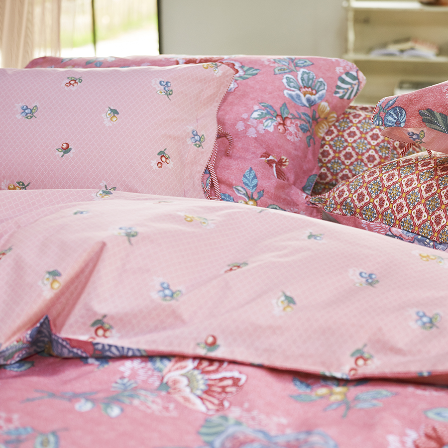 pip studio bettw sche berry bird pink online kaufen emil paula. Black Bedroom Furniture Sets. Home Design Ideas