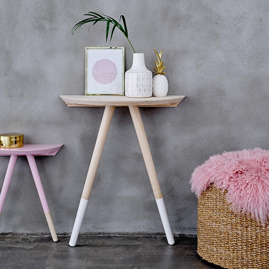 bloomingville beistelltisch matt white nature online kaufen emil paula. Black Bedroom Furniture Sets. Home Design Ideas
