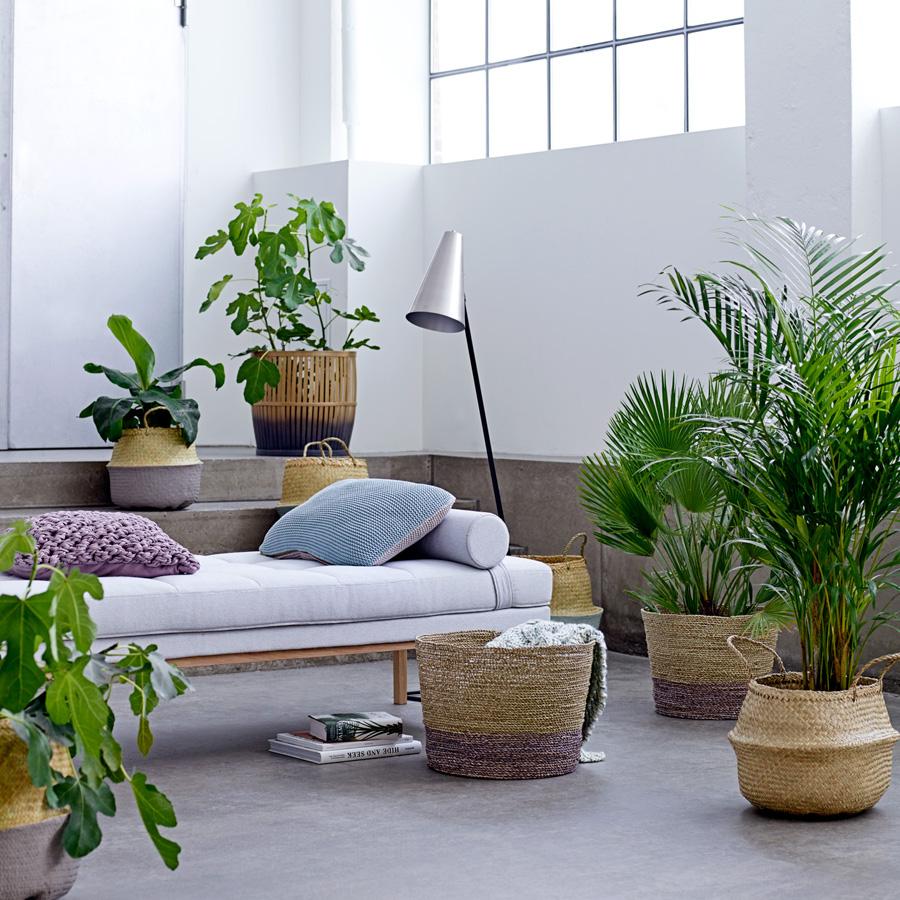 bloomingville bambuskorb nature grey online kaufen emil. Black Bedroom Furniture Sets. Home Design Ideas