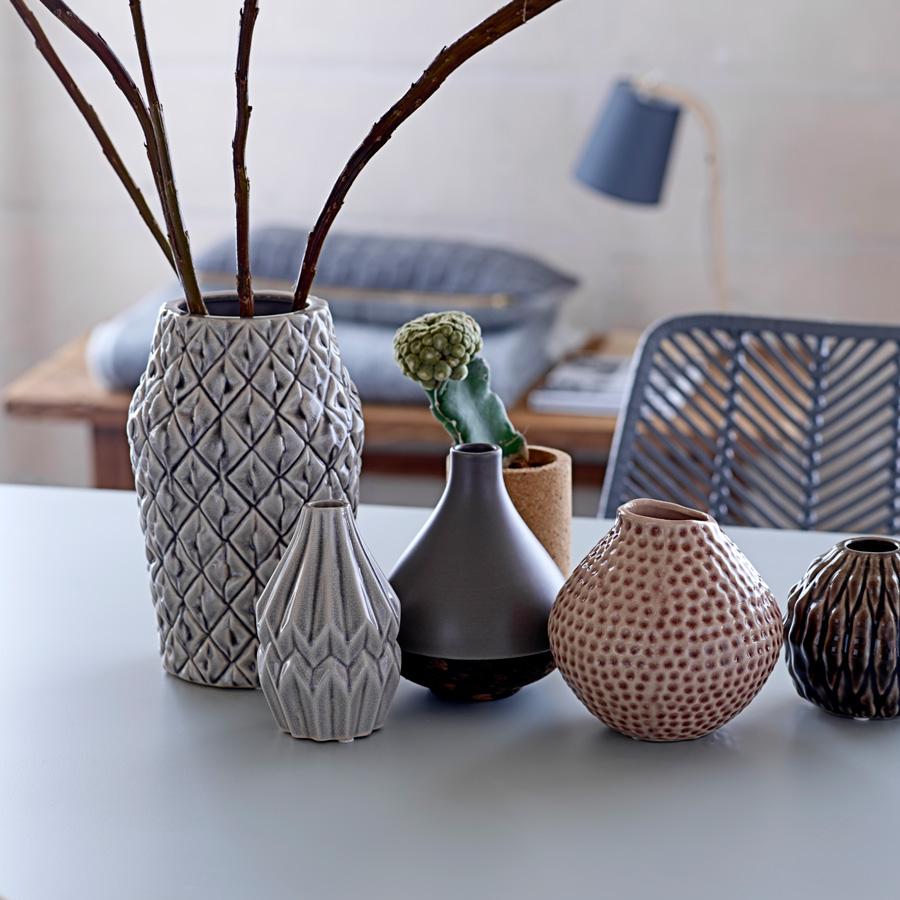 bloomingville porzellan vase indentations mauve online. Black Bedroom Furniture Sets. Home Design Ideas