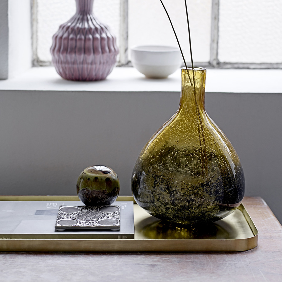 bloomingville vase amber smokey grey online kaufen emil paula. Black Bedroom Furniture Sets. Home Design Ideas
