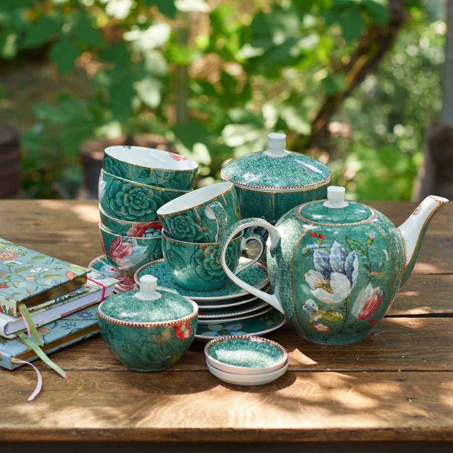 Pip studio storage jar medium spring to life green acheter - Acheter vaisselle pip studio ...